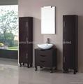 Solid wood single sink bathroom vanity,