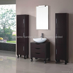 Solid wood single sink bathroom vanity, bathroom design  HC-5017