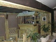 Bamboo tiki bar, tiki huts