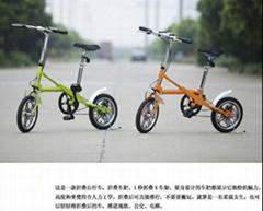 经典亿哲一秒折叠自行车