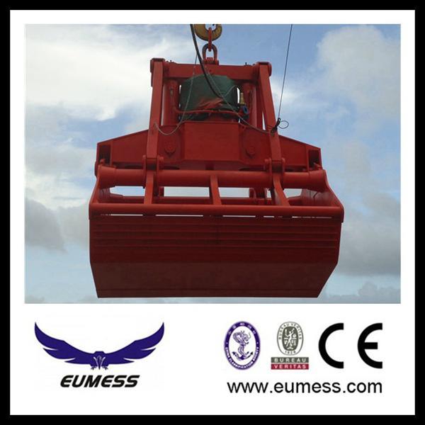 25T electric hydraulic grab for bulk cargo 1
