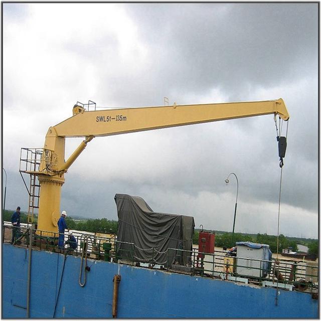 5噸13.5米直臂液壓甲板港口吊機 1