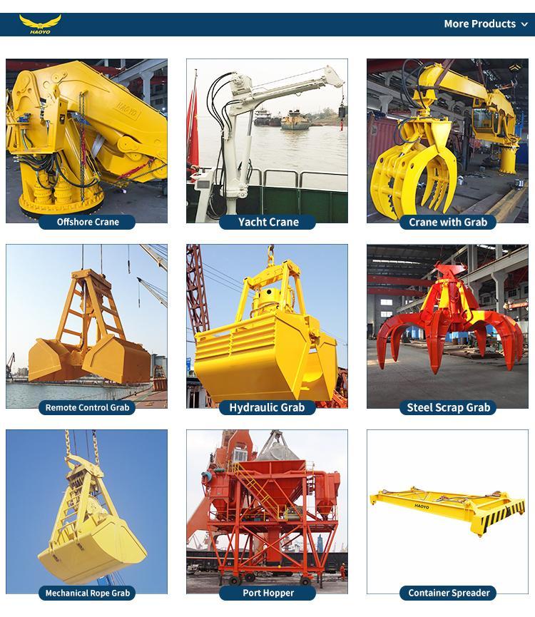 5T 10M Stiff  Boom Hydraulic Deck Marine Crane  12