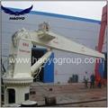 5T 10M Stiff  Boom Hydraulic Deck Marine Crane  5