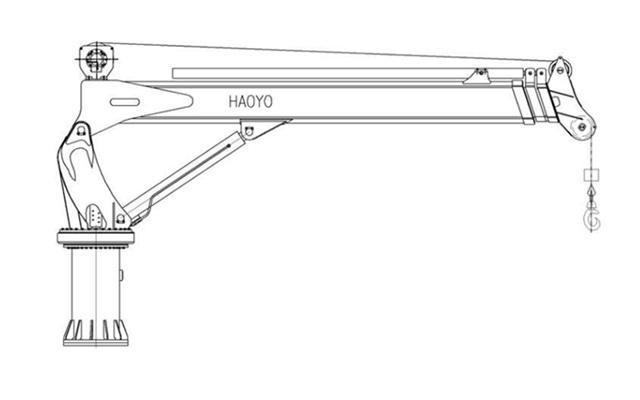 5T Ship Hydraulic Telescopic Crane 8