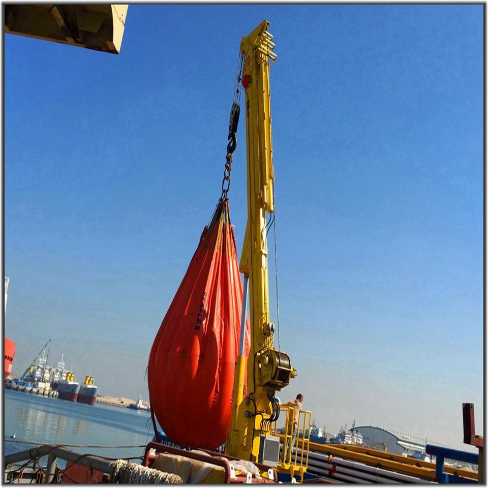 Folding Extension Mechanism Boom Telescoping Marine Crane 1