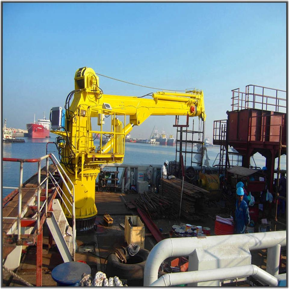Folding Extension Mechanism Boom Telescoping Marine Crane 4