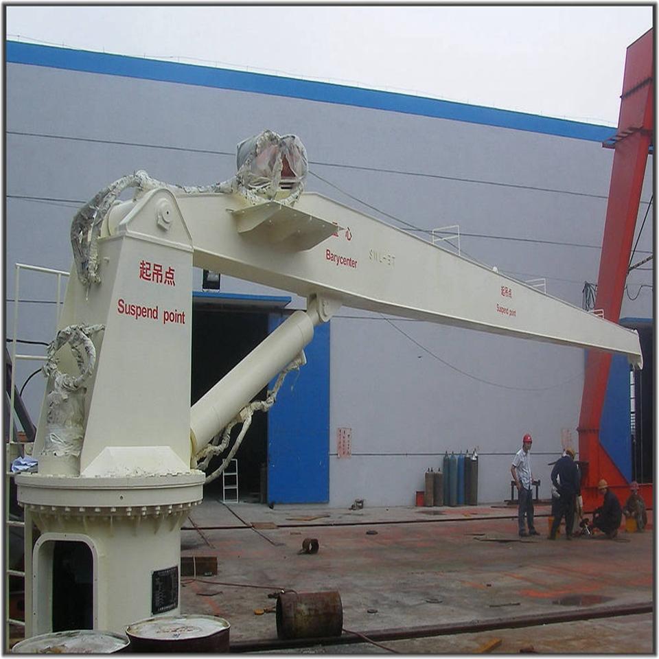 3T 15M Fix Boom Hydraulic Deck Marine Crane  3