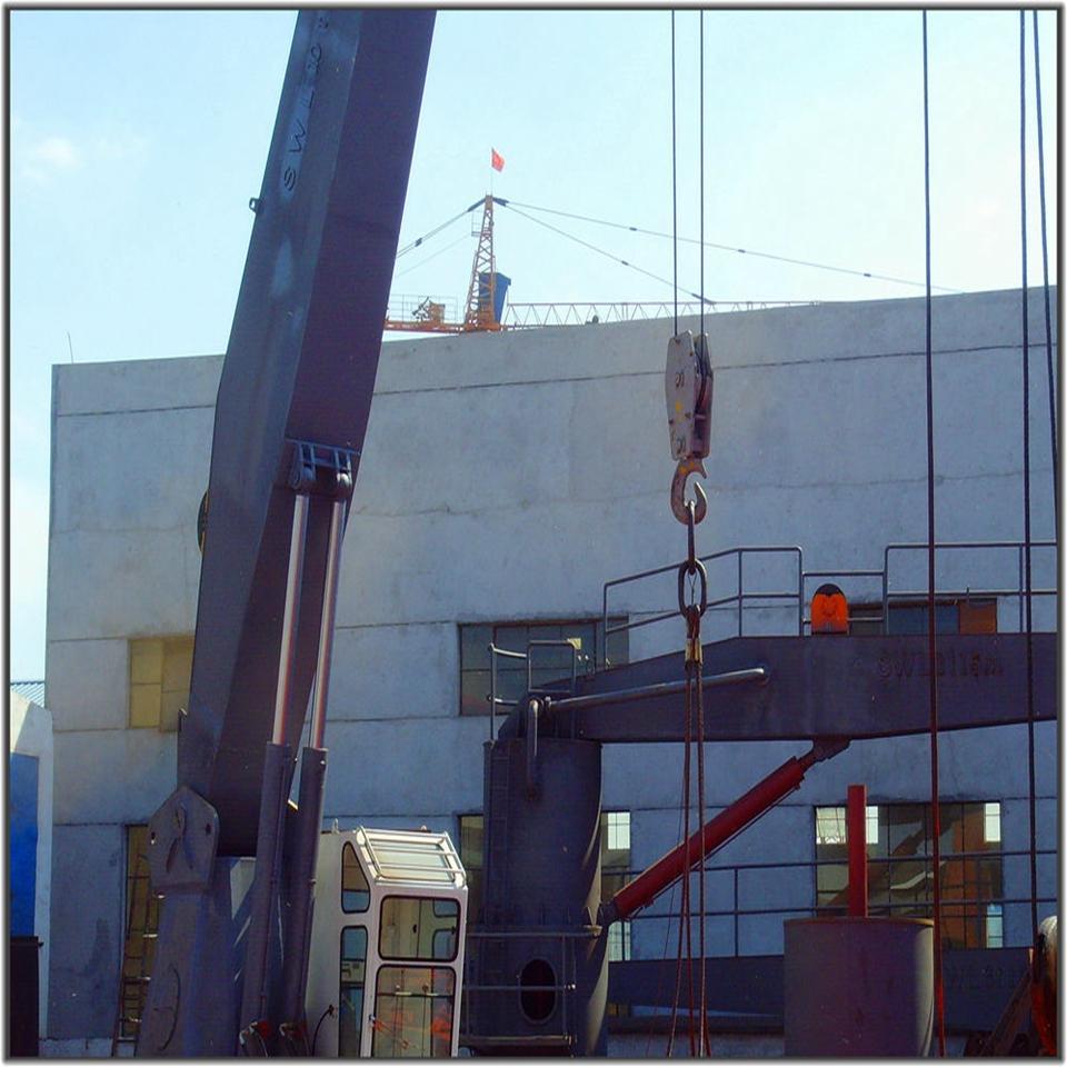 3噸15米直臂液壓船用甲板起重機 4