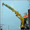 Knucle Boom Pedestal Marine Crane for sale in china  2