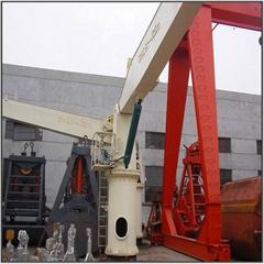 Portable Hydraulic Ship Deck Fixed Boom Crane