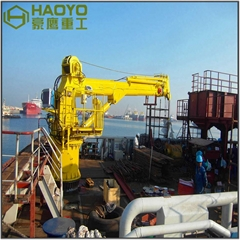 6T Ship Hydraulic Telescopic Marine Crane
