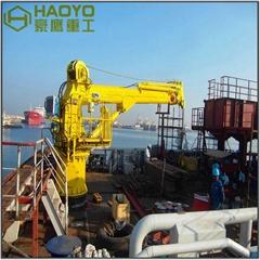 5t甲板液壓伸縮吊機
