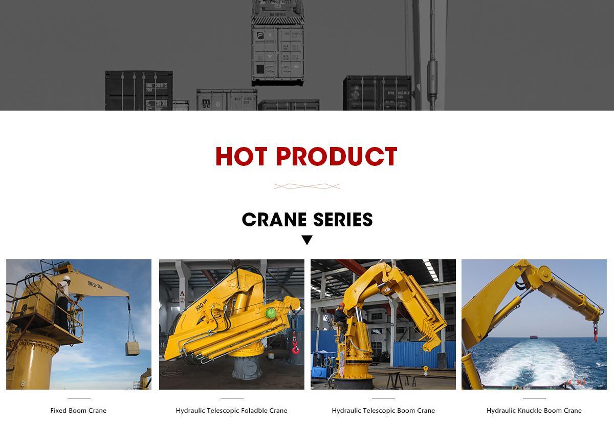 Knucle Boom Pedestal Marine Crane for sale in china  7