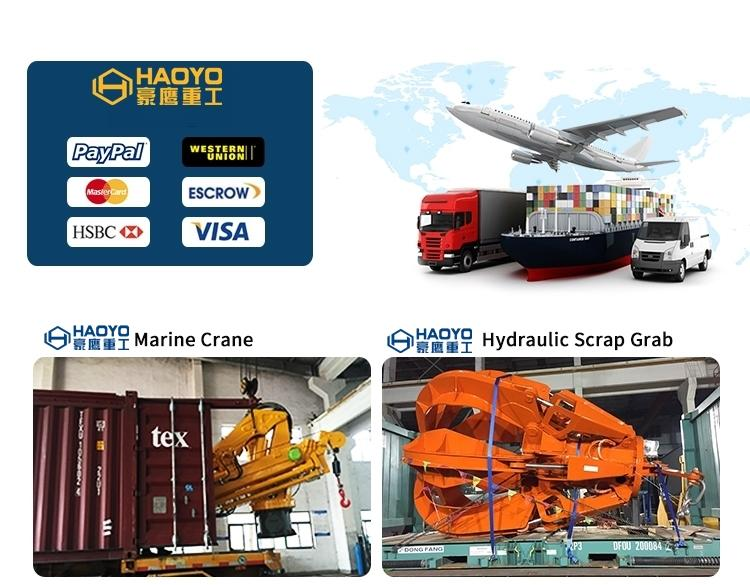 Hydraulic Motor telescopic marine cargo ship crane price 6