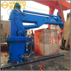 Hydraulic electric hoist lift telescopic boom crane