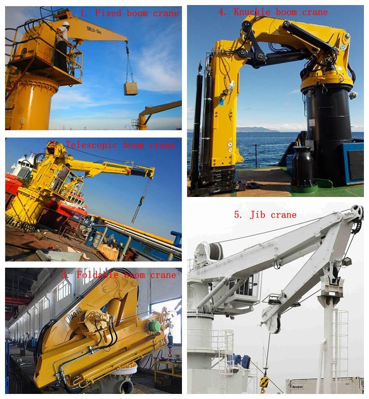 Telescoping  Boom Hydraulic Marine Crane 7