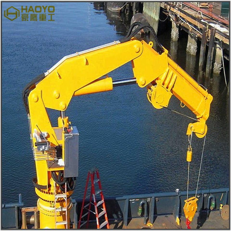 Hydraulic Knuckle Marine Boat Vessel Provision Crane  1