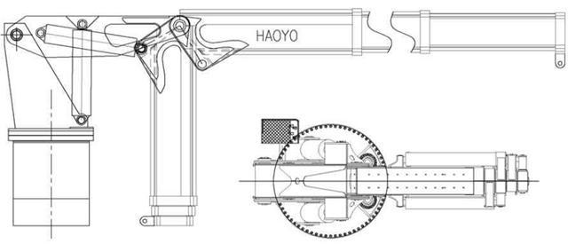 液壓折臂船用船舶供應起重機 4
