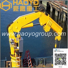 1 ton 2 ton Hydraulic Knuckle Boom Crane for cargo ship/barge