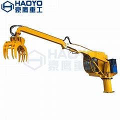 船用半折臂吊机可安装抓斗接受定制