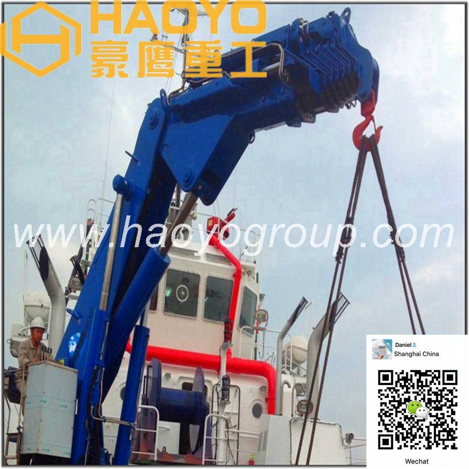Hydraulic Knuckle Boom Marine Crane for sale 2