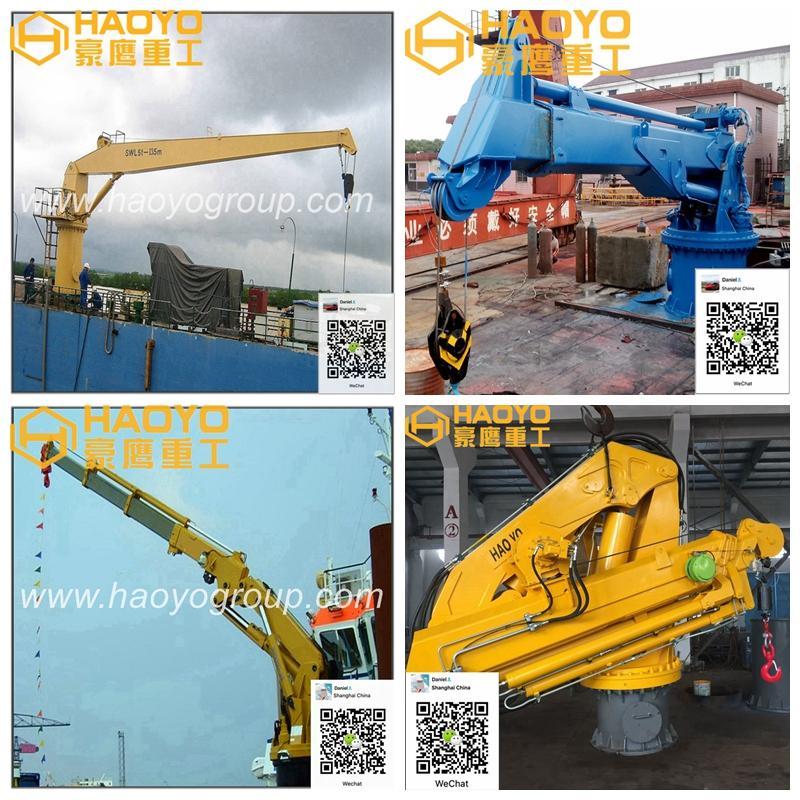 Hydraulic Knuckle Boom Marine Crane for sale 3