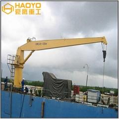 Hydraulic Straight Stiff Boom Deck Marine Crane