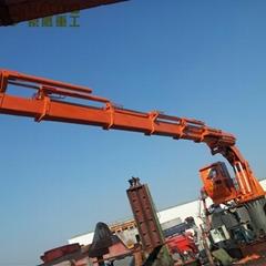 液壓可折疊伸縮臂船用發動機起重機車