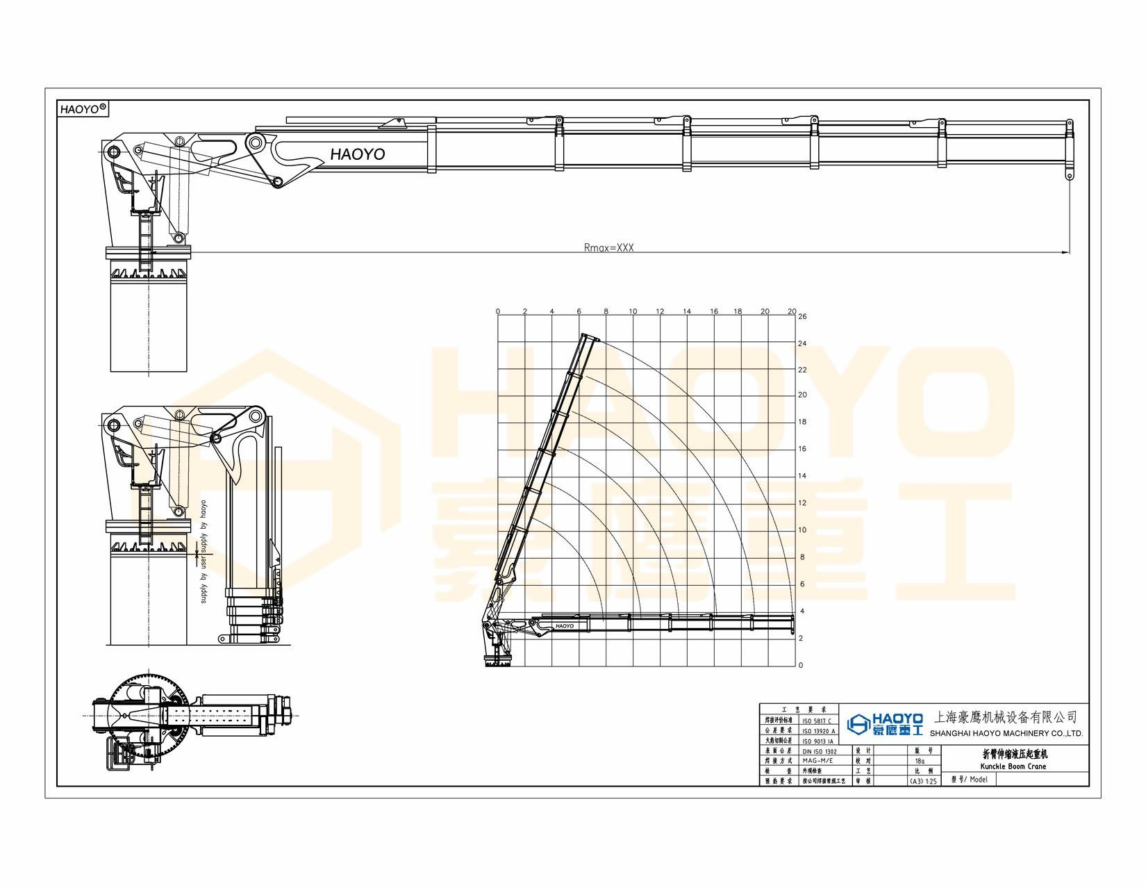 Portable 1000kg Knuckle Boom Cranes  4