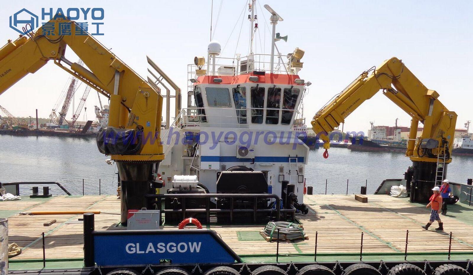 1 ton /2 ton/3 ton Ship Knuckle Boom Crane for Cargo Ship/barge 1