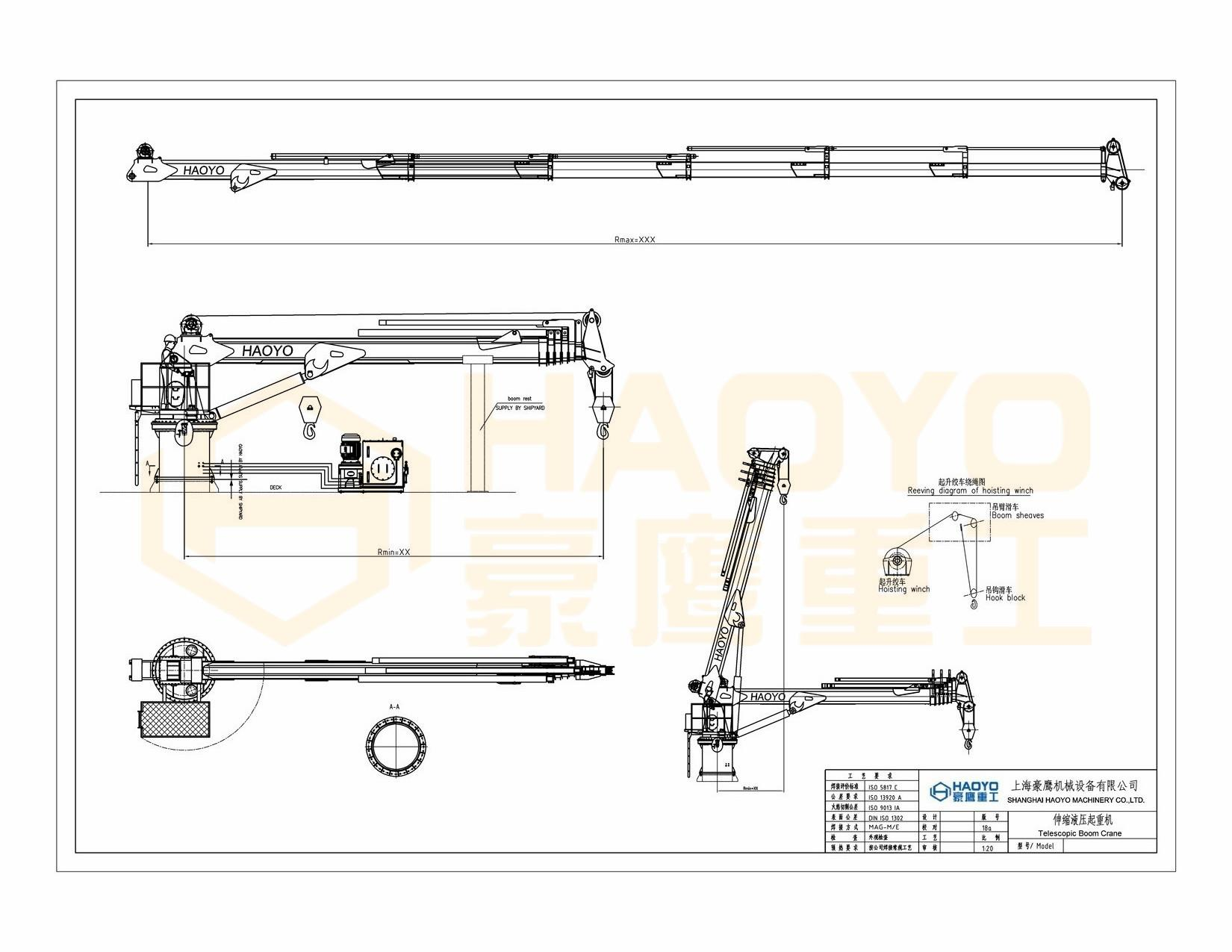 Telescopic Boom Deck Offshore Types of Crane Manufacturer on Ship 4