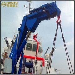小型折臂船用甲板海上起重機