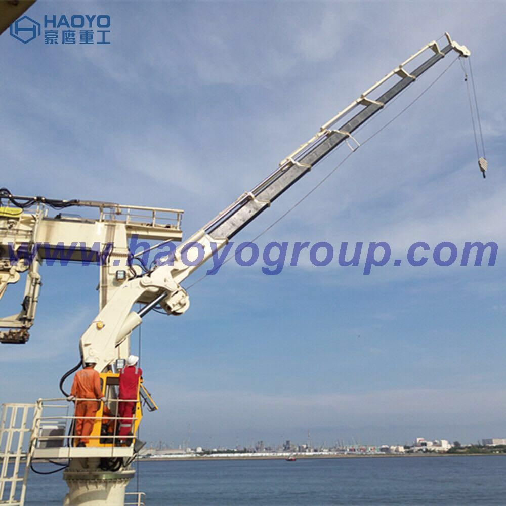 Small Knuckle Boom Marine Deck Offshore Crane for boat 3
