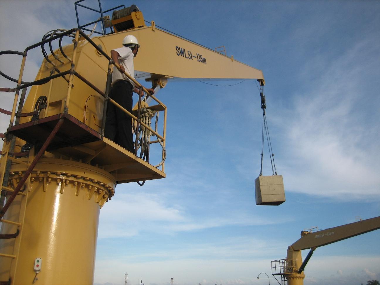 豪鷹1噸4米直臂船用甲板起重機 1
