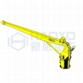 Stiff Boom Marine Pedestal Boat Crane Supplier for Cargo Ship