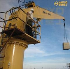 Small Cargo 5 ton Boat Ship Provision Crane