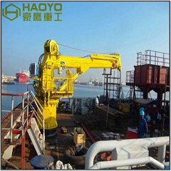 10 Ton Telescopic Boom Hydraulic Ship Deck Crane