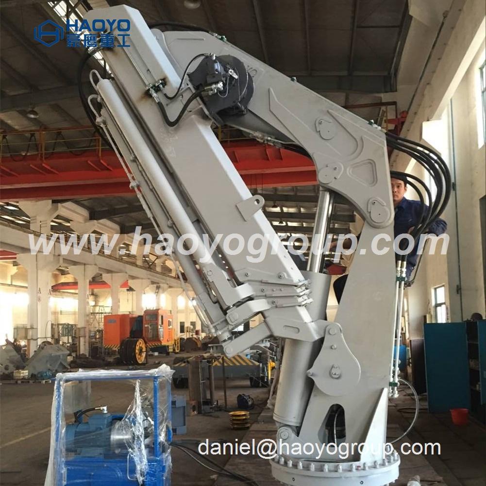 Foldable Boom Ship Crane Professional  manufacturer  3