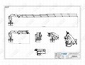 1.2ton/14.4m 可折疊的船用軟管裝卸起重機 2