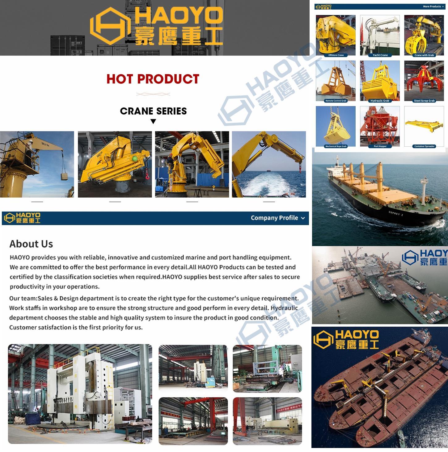 5t/13.5m Fixed Boom Marine Deck Crane Imported 8