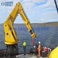 定制半折臂船用甲板/港口起重机