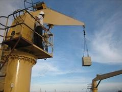上海豪鹰船用直臂吊厂家 吊机厂家