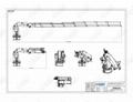 液压车间可折叠甲板起重机