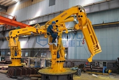 Fully Foldable Hydraulic Engine Driven Marine Crane for sale