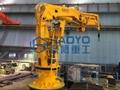 Fully Foldable Hydraulic Engine Driven Marine Crane for sale 2