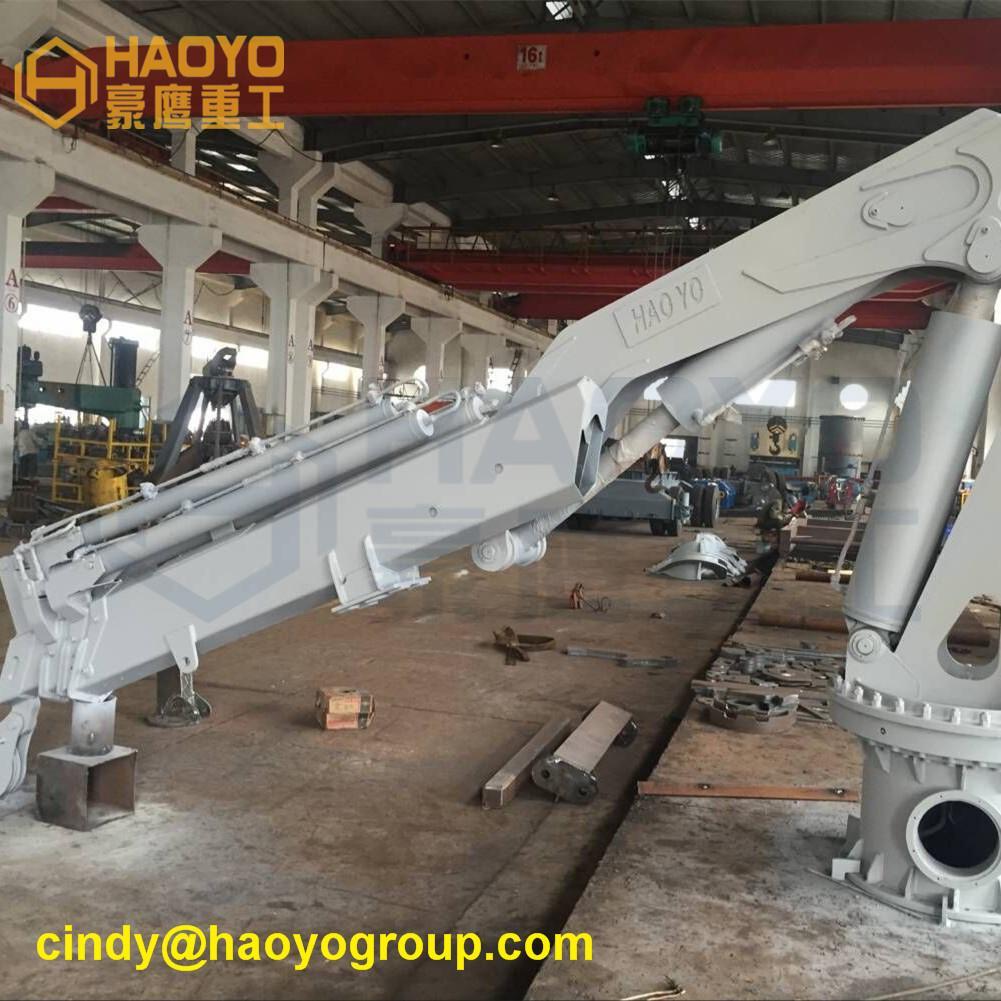 Hydraulic Swivel Foldable Boom Ship Crane 2