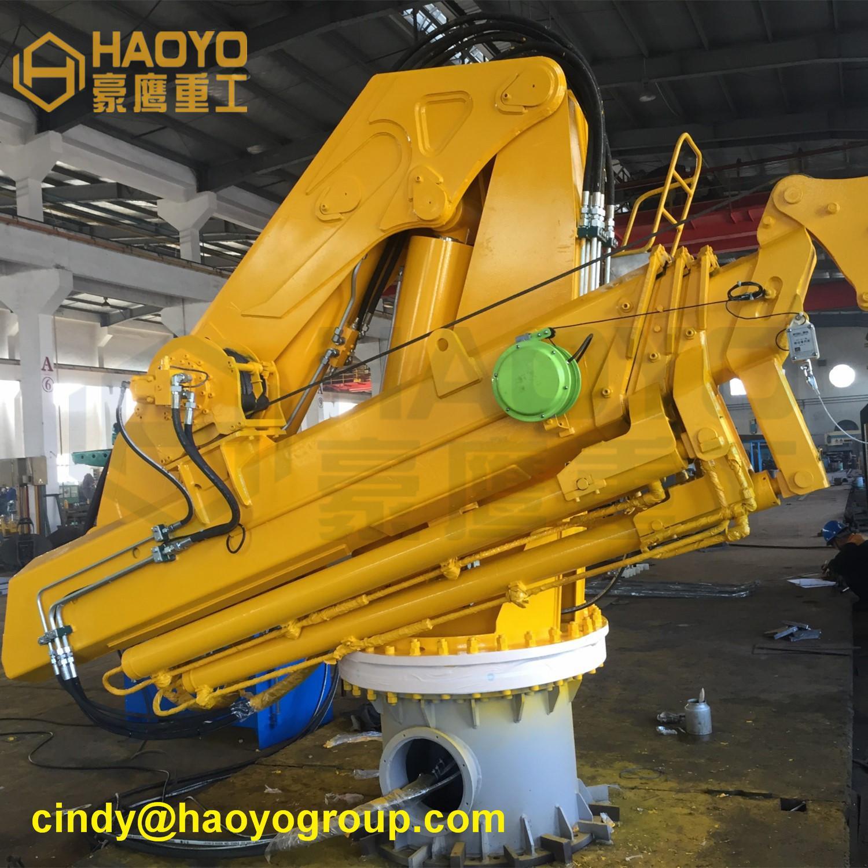 Hydraulic Swivel Foldable Boom Ship Crane 3
