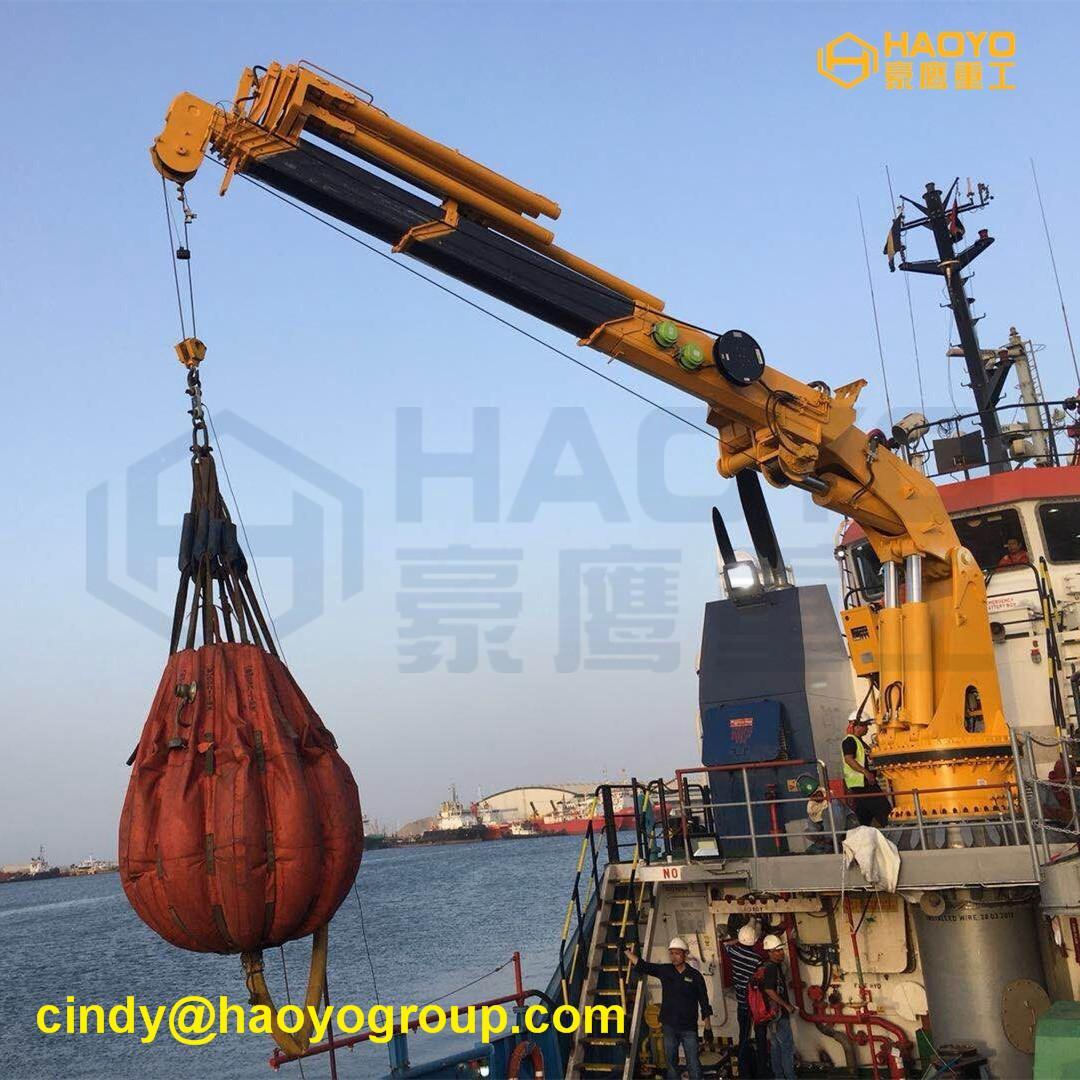 Hydraulic Swivel Foldable Boom Ship Crane 1