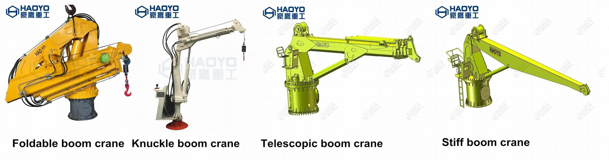 Hydraulic Knuckle Boom Marine Crane for sale 8
